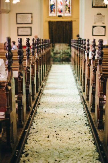 "Wedding Ceremony Flowers - Petal Lined Aisle | Image by <a href=""https://www.mandjphotos.com/"" target=""_blank"">M&J Photography</a>"