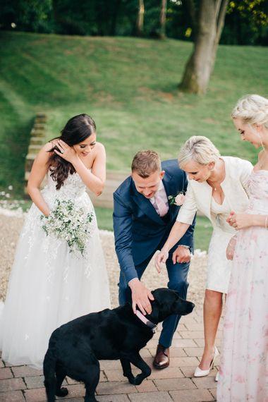 "Dog at Wedding | Image by <a href=""https://www.mandjphotos.com/"" target=""_blank"">M&J Photography</a>"