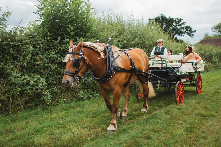 Horse and Cart Wedding Transport