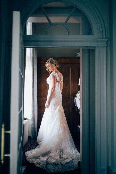 Bride in Stella York 6272 Bridal Gown   Pastel Wedding at Parkside School in Surrey   Nikki van der Molen Photography   The Modern Revelry Film
