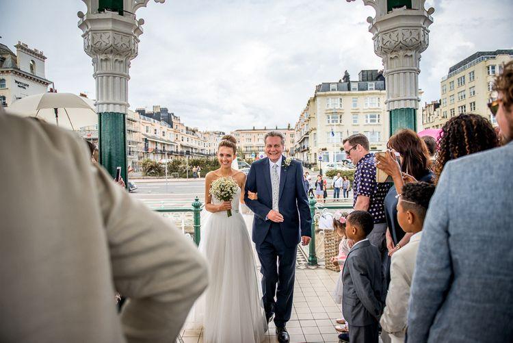 Brighton Bandstand Wedding Ceremony | Bridal Entrance
