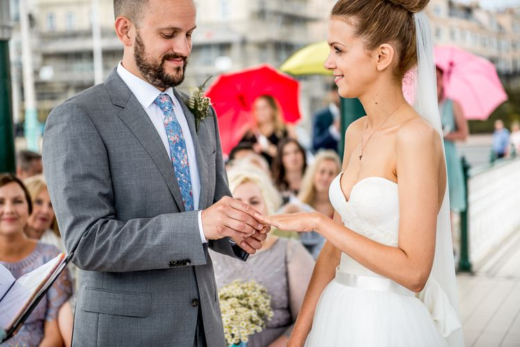 Brighton Bandstand Wedding Ceremony | Exchanging of Rings