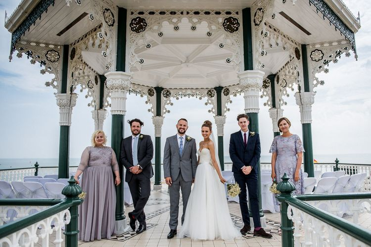 Wedding Party on Brighton Bandstand