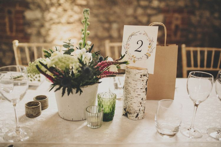 Rustic Wedding Decor | Table Centrepieces