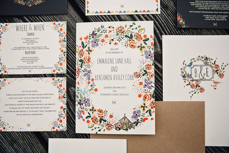 Kitty McCall Wedding Stationery Suite