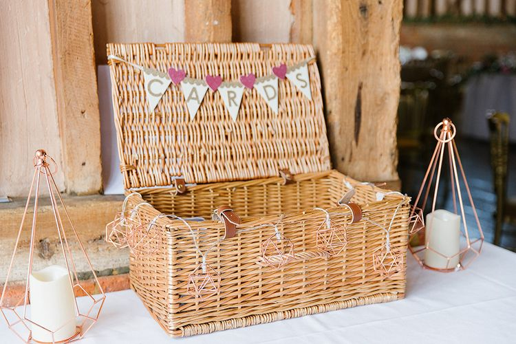 Wicker Hamper For Wedding Cards