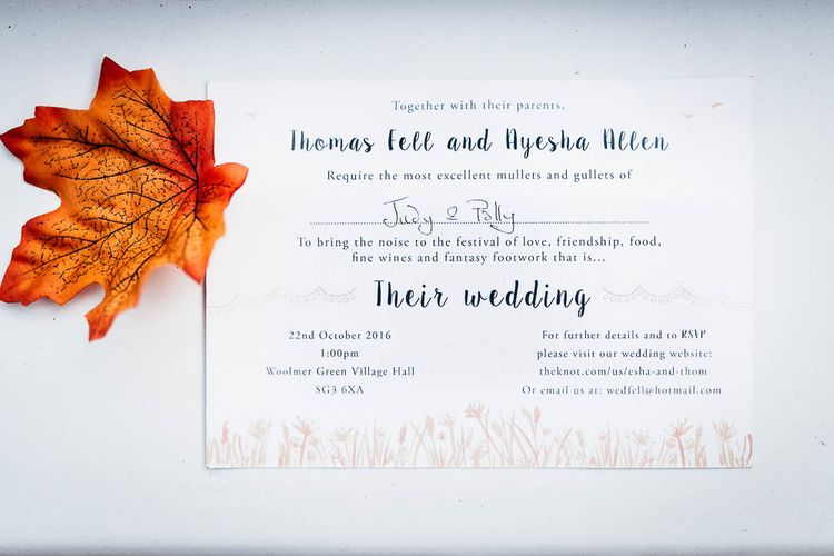 Autumnal Wedding Stationery Suite