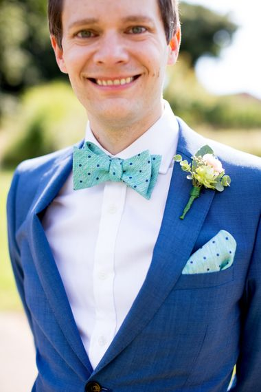 Groom Navy in Kin by John Lewis Suit with Accessories from John Henric