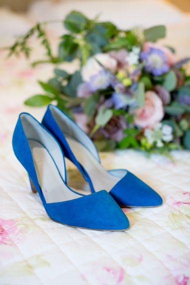 Cobalt Blue Suede Reiss Bridal Shoes