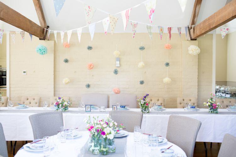 DIY Pastel Reception at Finchcocks Oast, Kent