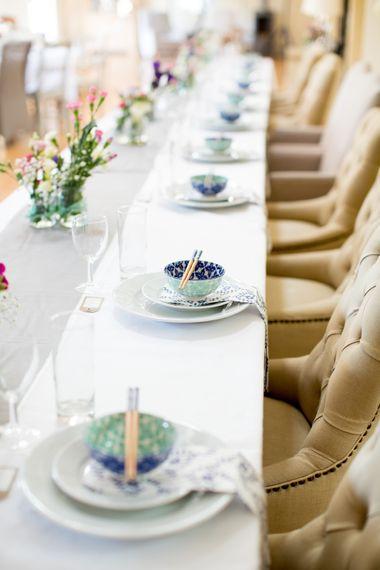 Thai Wedding Breakfast Place Settings