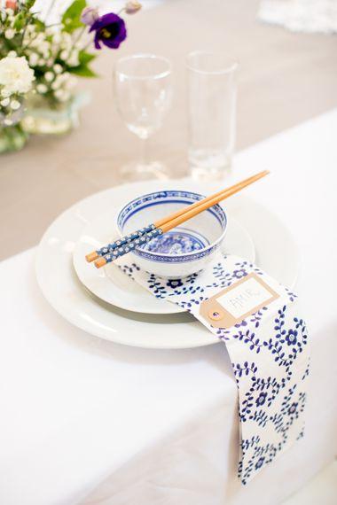 Thai Wedding Breakfast Place Setting