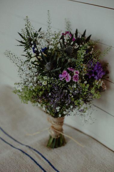 Wild Flower Bouquet | Isle of Sky Elopement Wedding | Wonderful & Strange Photography