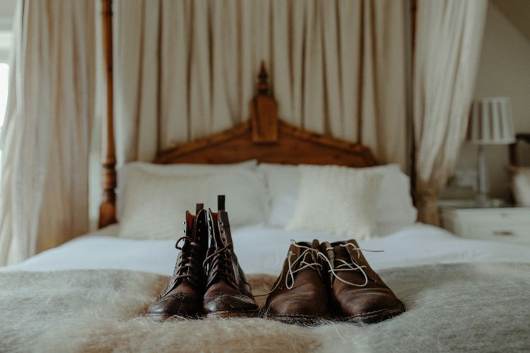 Bride & Groom Wedding Boots | Isle of Sky Elopement Wedding | Wonderful & Strange Photography