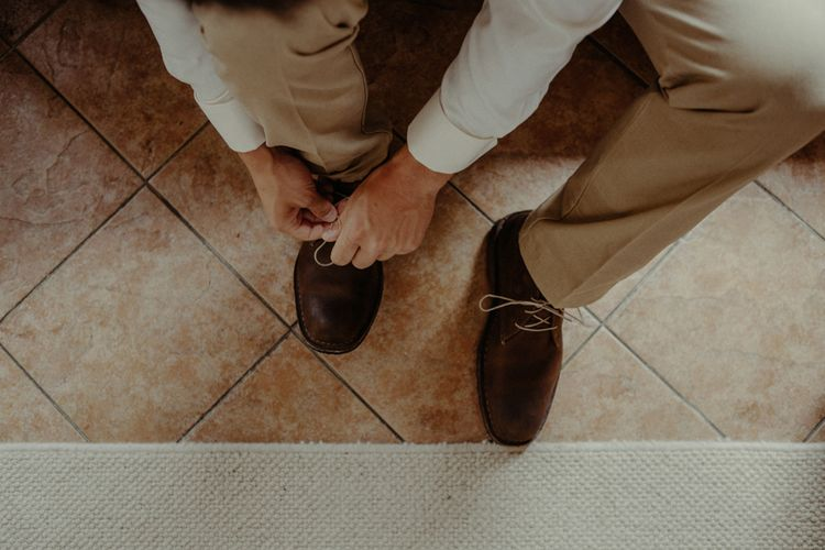 Grooms Shoes | Isle of Sky Elopement Wedding | Wonderful & Strange Photography
