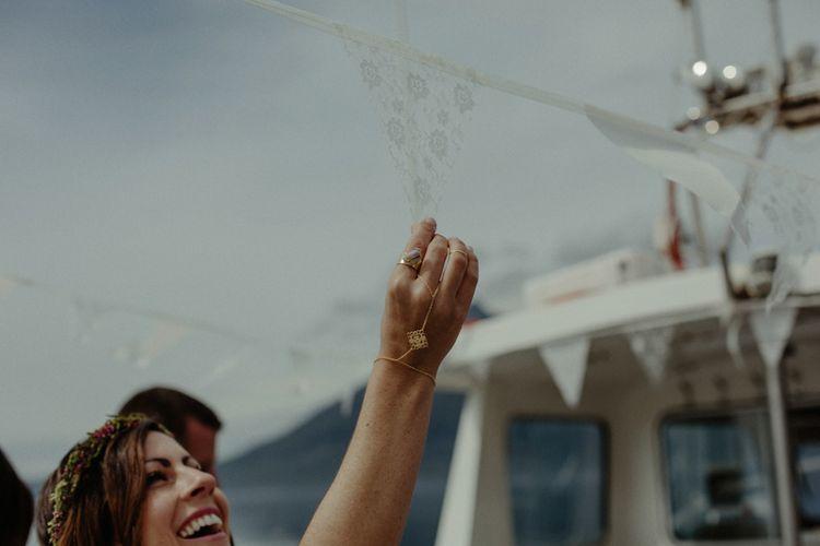 Lace Bunting | Bridal Jewellery | Isle of Sky Elopement Wedding | Wonderful & Strange Photography
