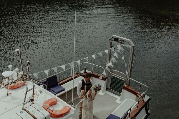 Wedding Boat | Isle of Sky Elopement Wedding | Wonderful & Strange Photography