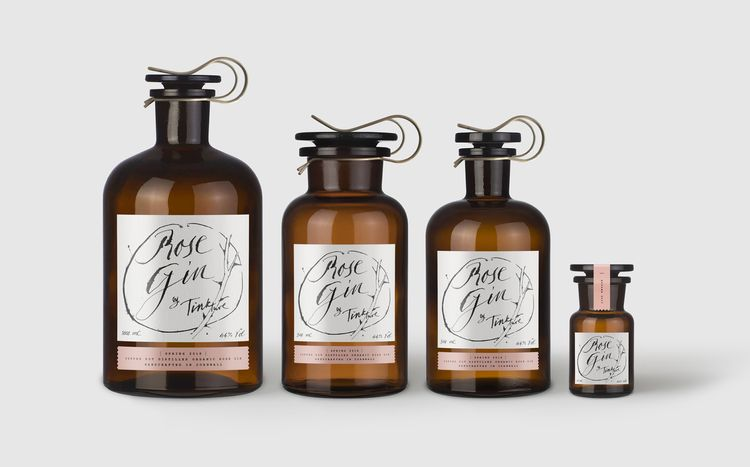 Rose Gin Wedding Favours From Tinkture | Edible Drinkable Wedding Favours