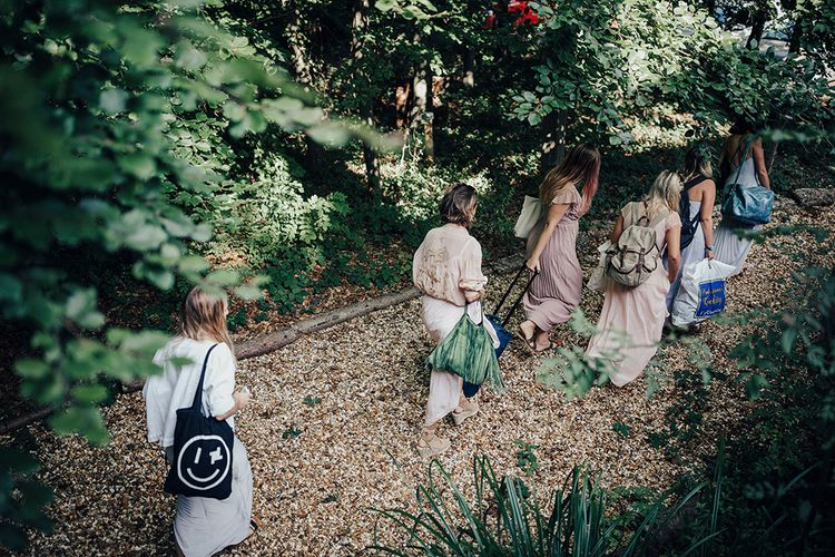 Bridal Preparations | DIY Woodland Wedding at Two Woods Estate in Sussex | PJ Phillips Photography