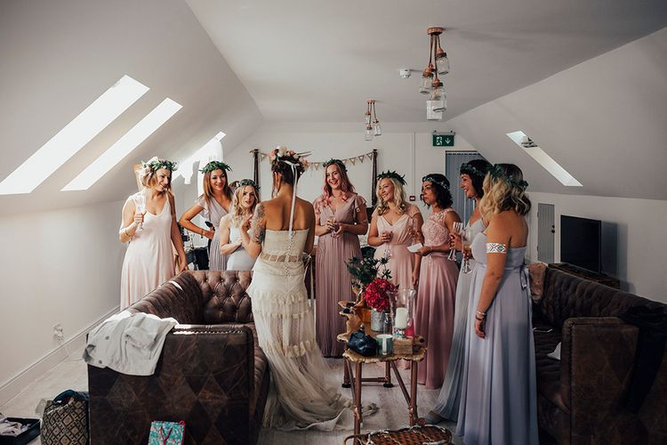 Wedding Morning Bridal Preparations | DIY Woodland Wedding at Two Woods Estate in Sussex | PJ Phillips Photography