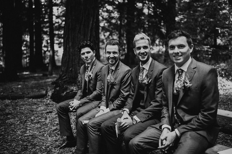 Groomsmen | DIY Woodland Wedding at Two Woods Estate in Sussex | PJ Phillips Photography