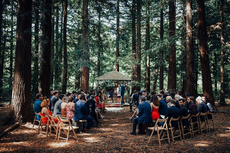 Wedding Ceremony | DIY Woodland Wedding at Two Woods Estate in Sussex | PJ Phillips Photography