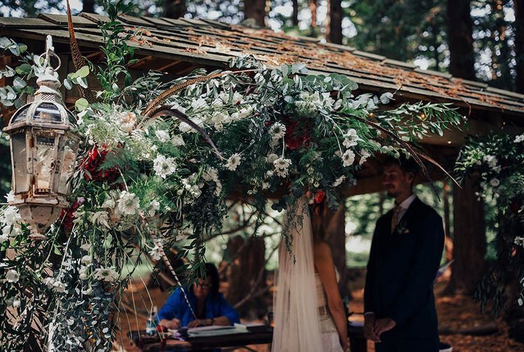 Wild Flower Arbour Wedding Flowers | DIY Woodland Wedding at Two Woods Estate in Sussex | PJ Phillips Photography
