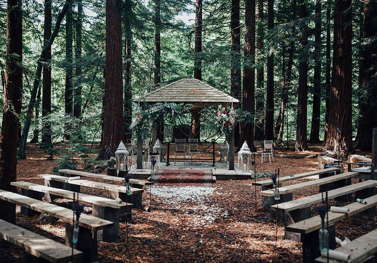Ceremony | DIY Woodland Wedding at Two Woods Estate in Sussex | PJ Phillips Photography