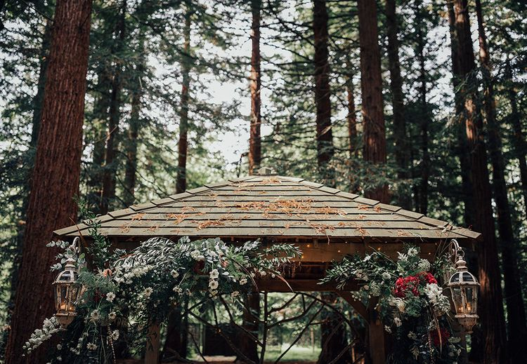 Wild Flower Cover Arbour | DIY Woodland Wedding at Two Woods Estate in Sussex | PJ Phillips Photography