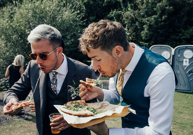 Baz & Fred Pizzeria | DIY Woodland Wedding at Two Woods Estate in Sussex | PJ Phillips Photography