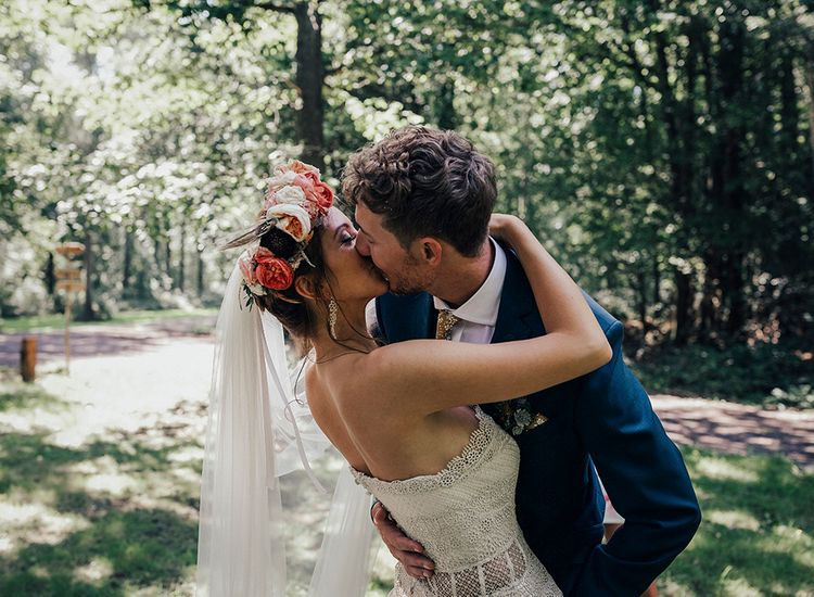 Beautiful Bride & Groom | DIY Woodland Wedding at Two Woods Estate in Sussex | PJ Phillips Photography
