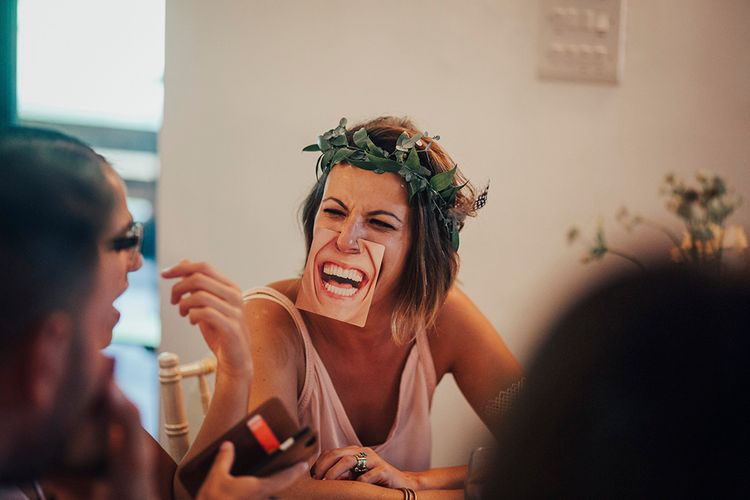 Wedding Reception Fun | DIY Woodland Wedding at Two Woods Estate in Sussex | PJ Phillips Photography