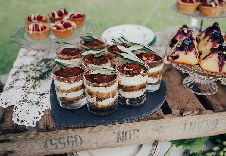 Dessert Table Treats | DIY Woodland Wedding at Two Woods Estate in Sussex | PJ Phillips Photography