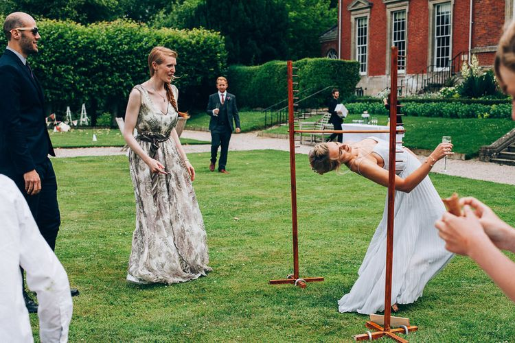 Garden Games | Colourful Wedding at Kelmarsh Hall in Northamptonshire | Casey Avenue Photography