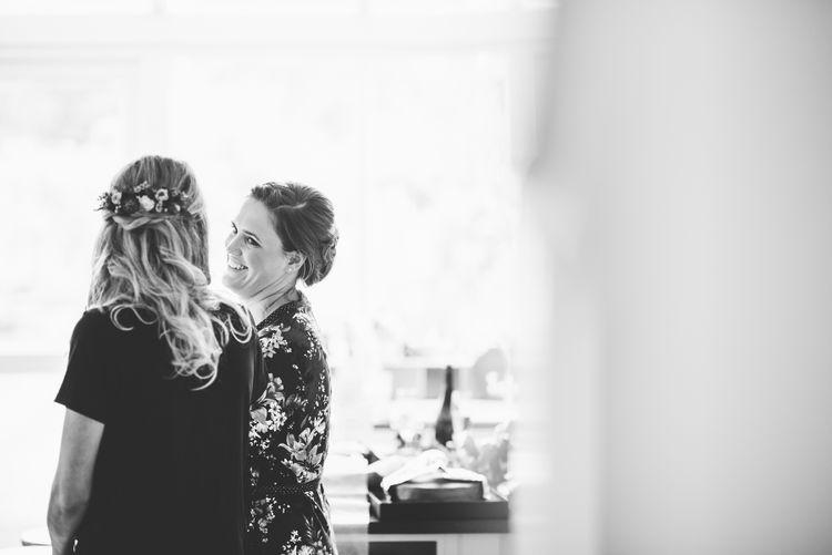 Bridal Wedding Morning Preparations | Bright At Home Tipi Wedding | Barney Walters Photography