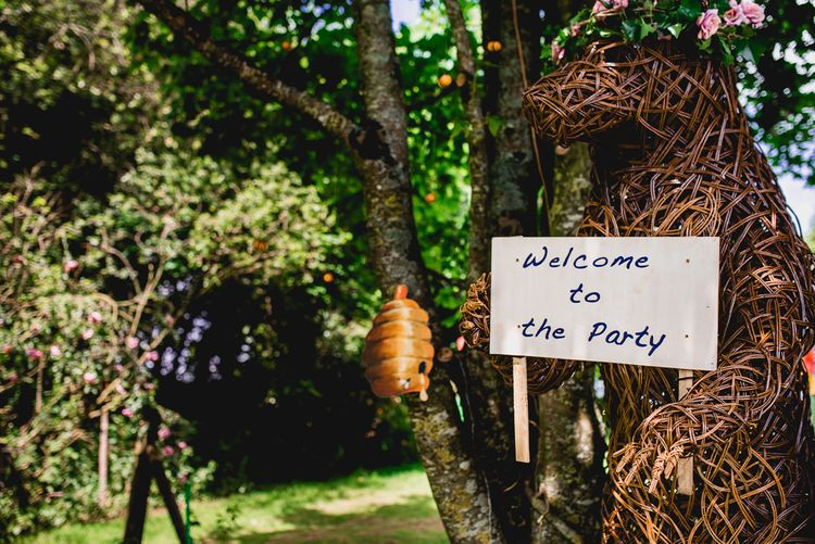 Wedding Sign | Bright At Home Tipi Wedding | Barney Walters Photography