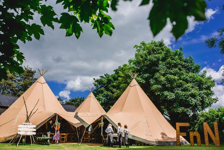 Tipi Wedding Reception | Bright At Home Tipi Wedding | Barney Walters Photography