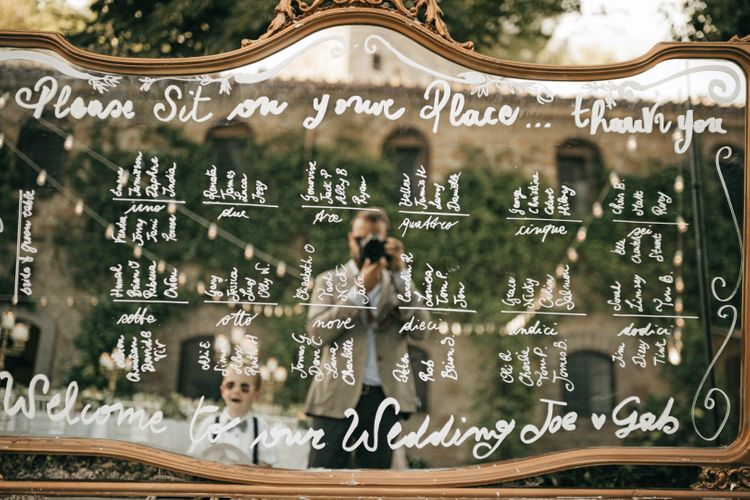 Mirror Table Plan For Wedding