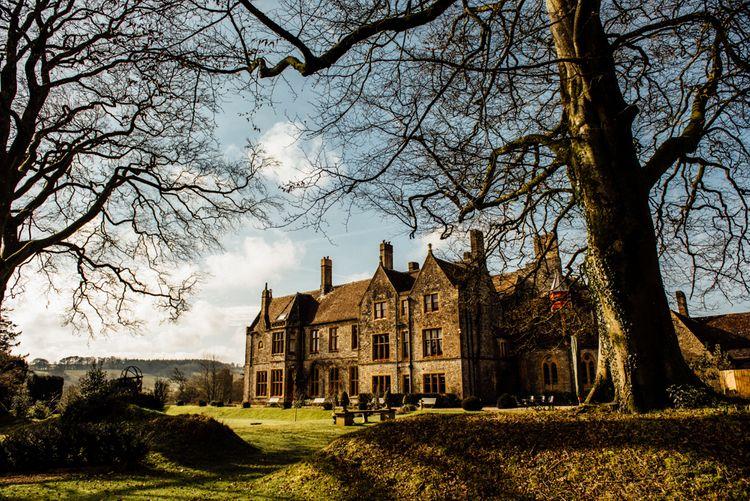 Huntsham Court Winter Wedding Image by Micelle Wood Photographer