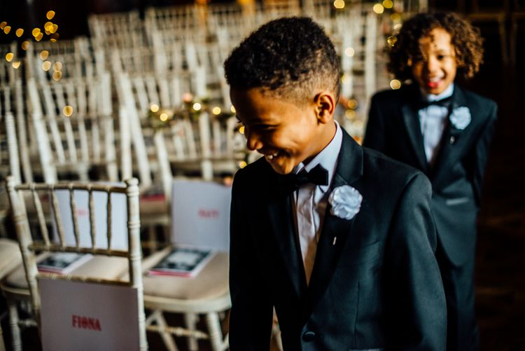 Page Boy In Black Tie Image by Michelle Wood Photographer