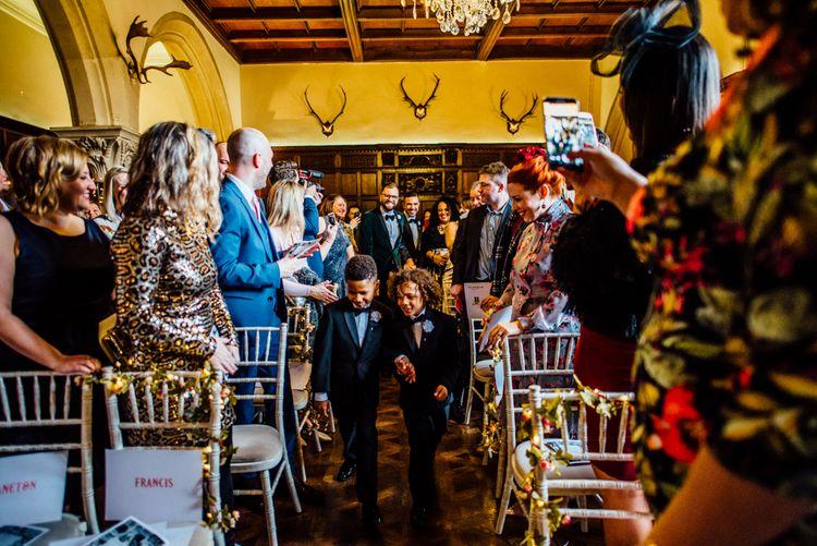 Huntsham Court Winter Wedding Image by Michelle Wood Photographer