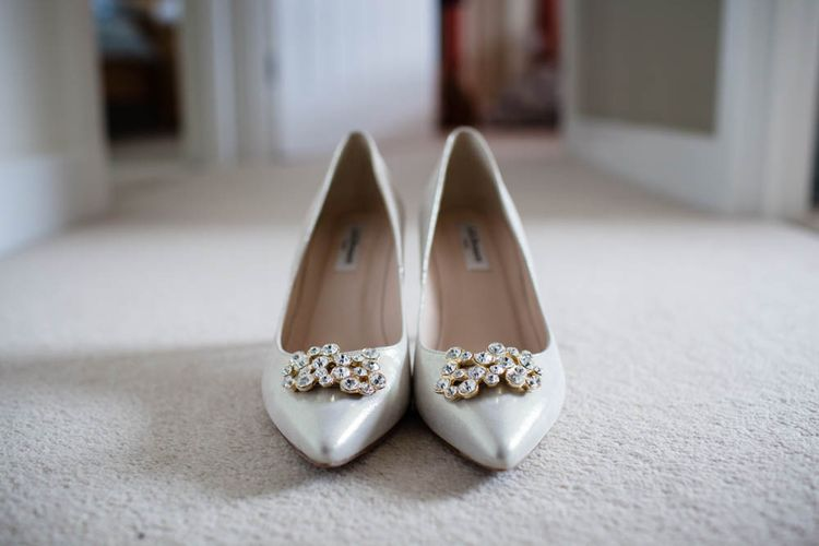 Jewel Encrusted Wedding Shoes | Blink Photography