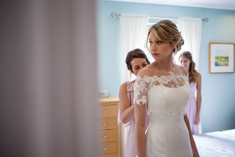 Bride in Sassi Holford Grace Wedding Dress | Blink Photography
