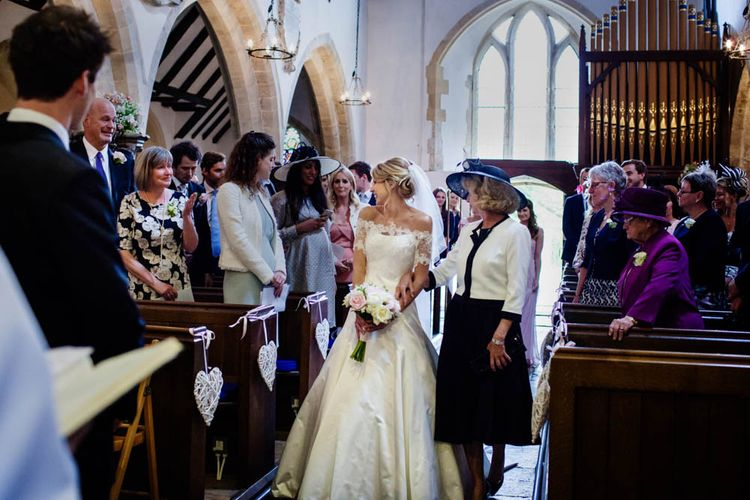 Church Wedding Ceremony | Bride & Mother of The Bride Entrance | Blink Photography
