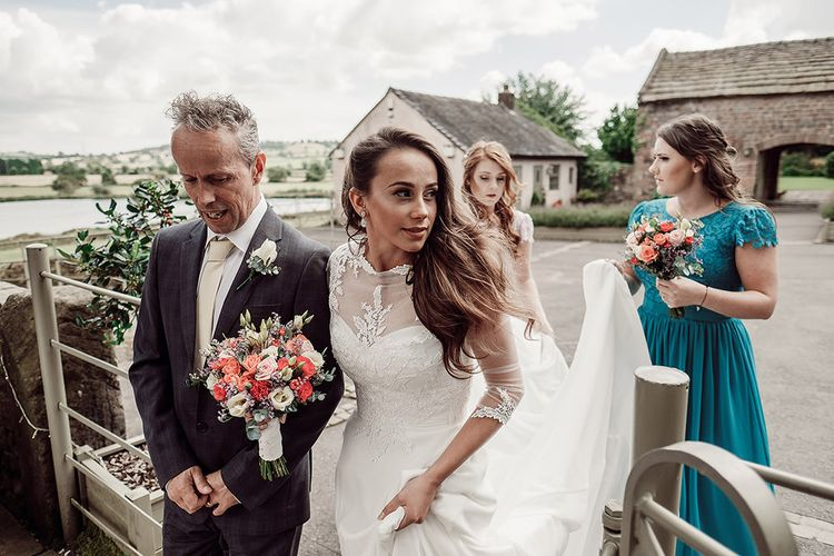 Bridal Entrance in Justin Alexander