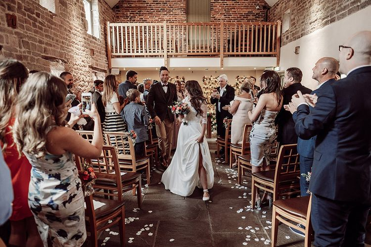 Rustic Ceremony at The Ashes Barns in Staffordshire