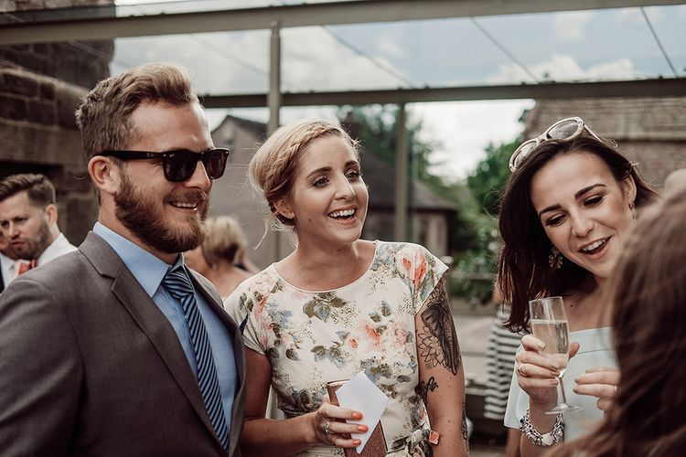 Wedding Guests at The Ashes Barns Staffordshire