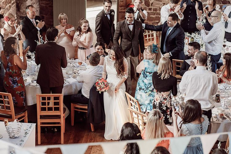 Rustic Reception at The Ashes Barns in Staffordshire