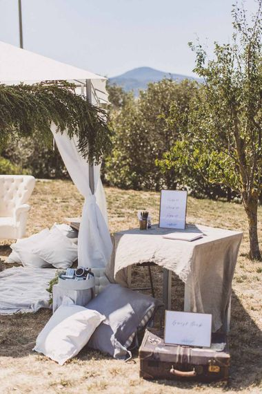 Outdoor Seating Area Destination Wedding // Rustic Luxe Wedding In Tuscany Styled By The Wedding Of My Dreams With Flowers By Passion For Flowers Anna Campbell Bride Images & Film From WE ARE // THE CLARKES