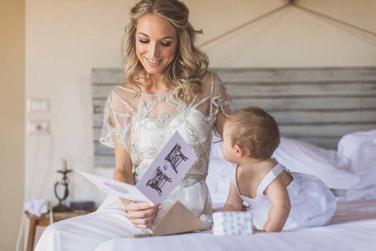 Anna Campbell Adelaide Wedding Dress // Rustic Luxe Wedding In Tuscany Styled By The Wedding Of My Dreams With Flowers By Passion For Flowers Anna Campbell Bride Images & Film From WE ARE // THE CLARKES